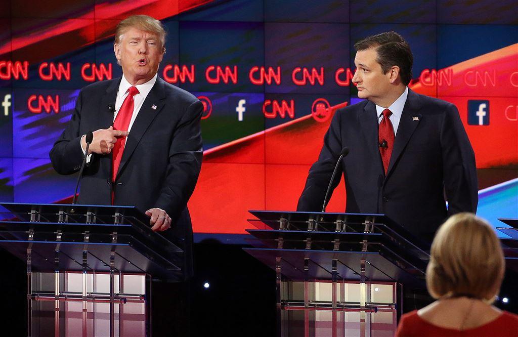 Donald Trump en Ted Cruz