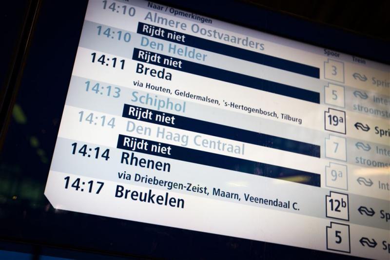 Storing digitale borden treinstations voorbij