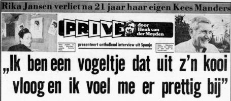 Uit de Telegraaf van 27 april 1974