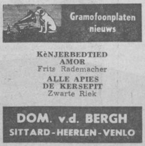 Uit het Limburgs Dagblad van 1 september 1956