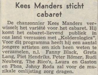 Uit het Nieuwsblad van het Noorden van 19 juni 1954