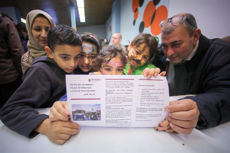 Carnavalsonderwijs voor vluchtelingen Keulen
