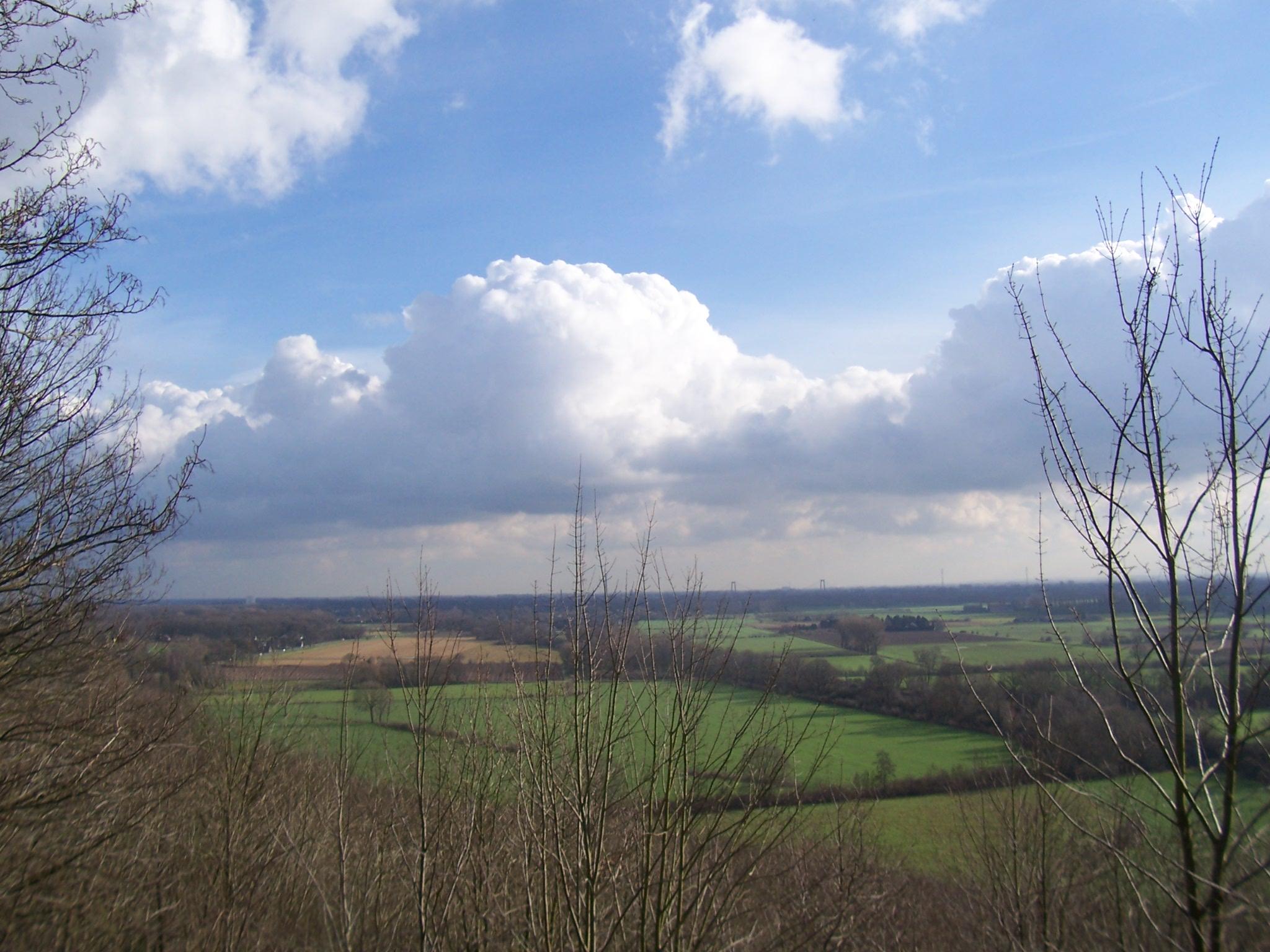 Uitzicht vanaf de Elterberg bij het Duitse dorp Elten