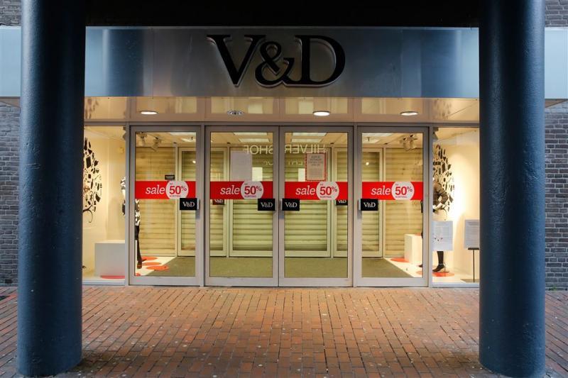 V&D sluit voorlopig de deuren