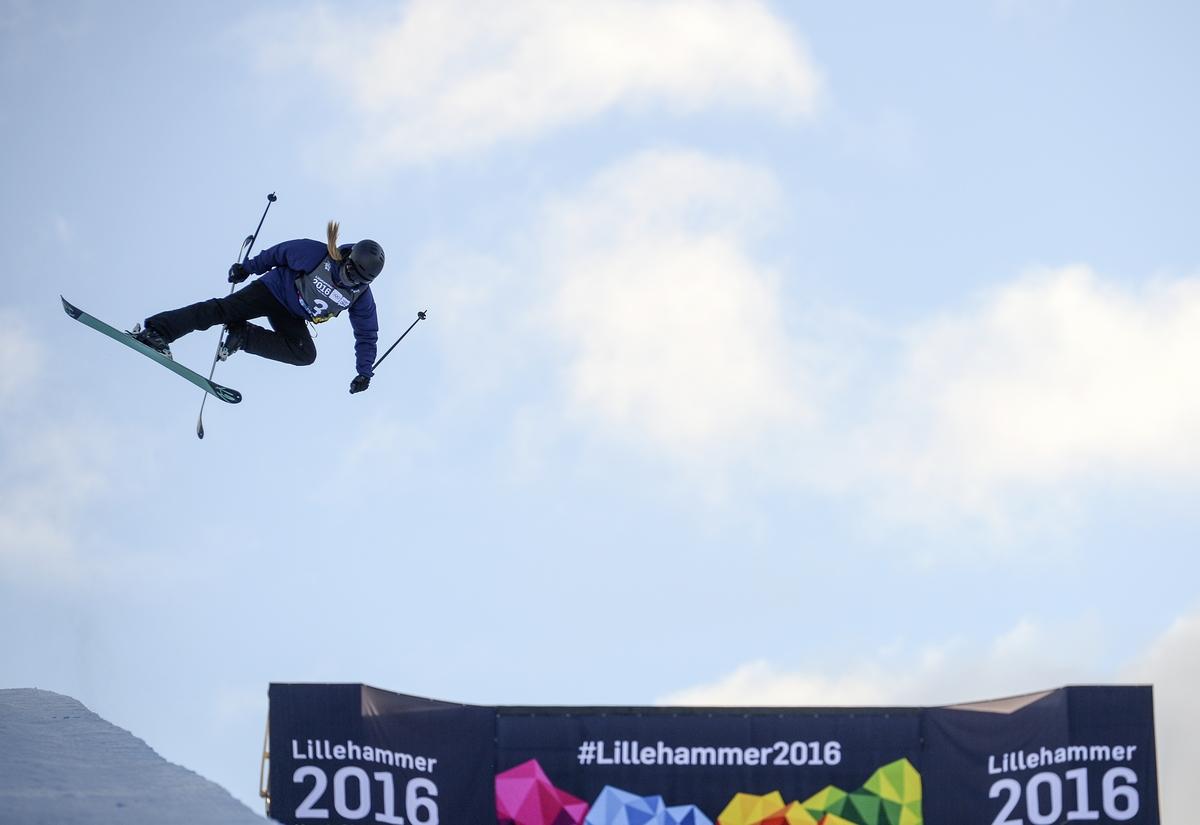 Rowlands tijdens haar gouden run in Oslo, waar de halfpipe voor de Jeugdspelen staat (Foto: YIS/Jon Buckle)