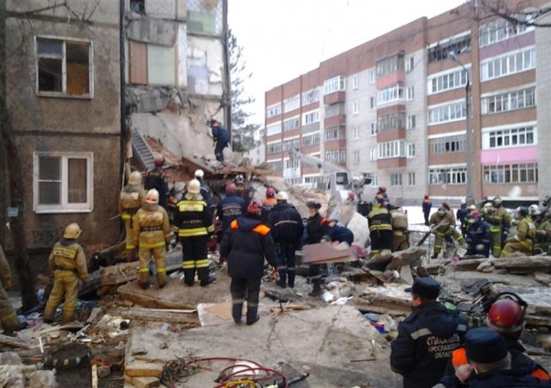 Russische flat deels ingestort na ontploffing