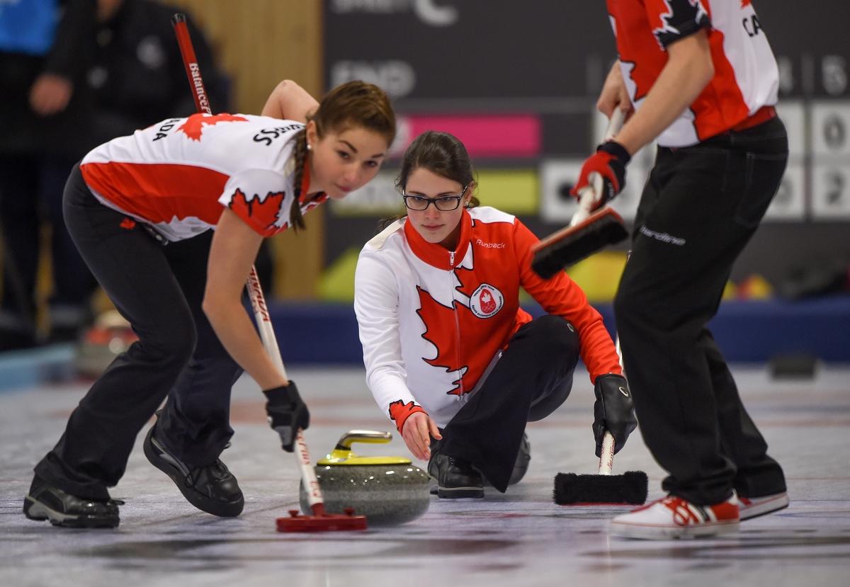 Het Canadese team in actie tijdens de finale in Lillehammer (Foto: YIS/Thomas Lovelock)