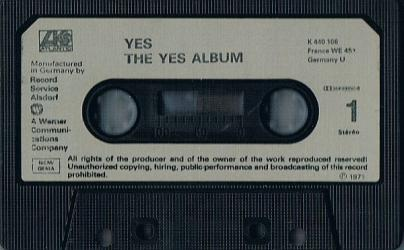 The Yes Album op cassette
