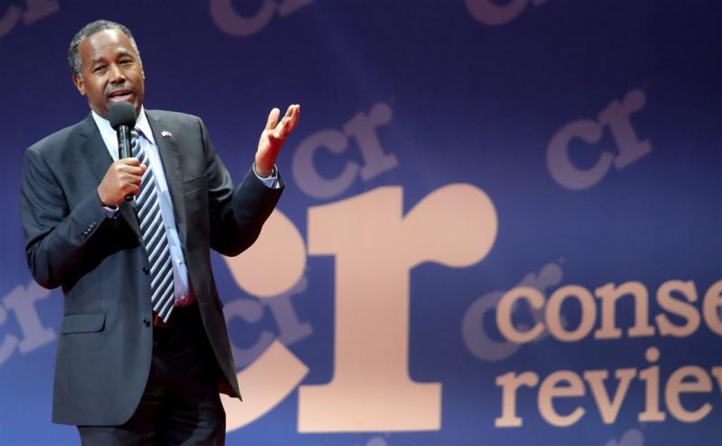 Republikein Carson: geen zicht op Witte Huis