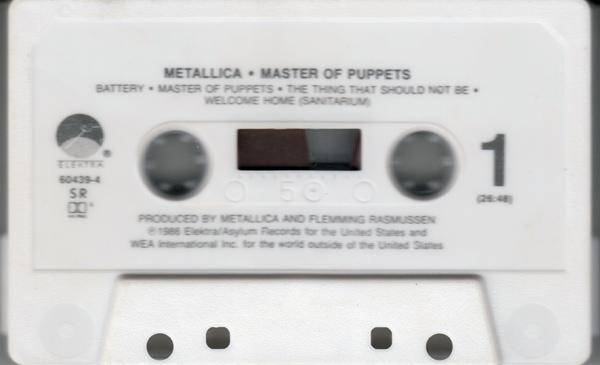 Master of Puppets op cassette