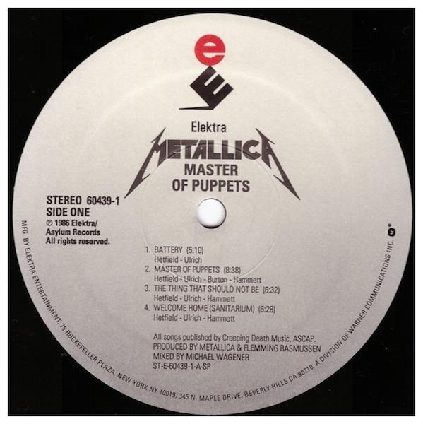 Metallica - Master of Puppets A
