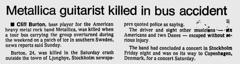 Uit de The Milwaukee Sentinel van 29 september 1986