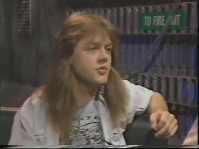 Lars Ulrich in 1985