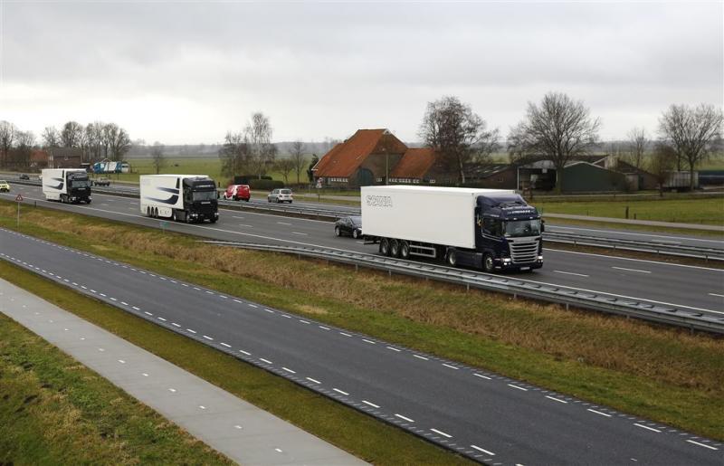 Zelfrijdende vrachtwagens op Vlaamse snelweg