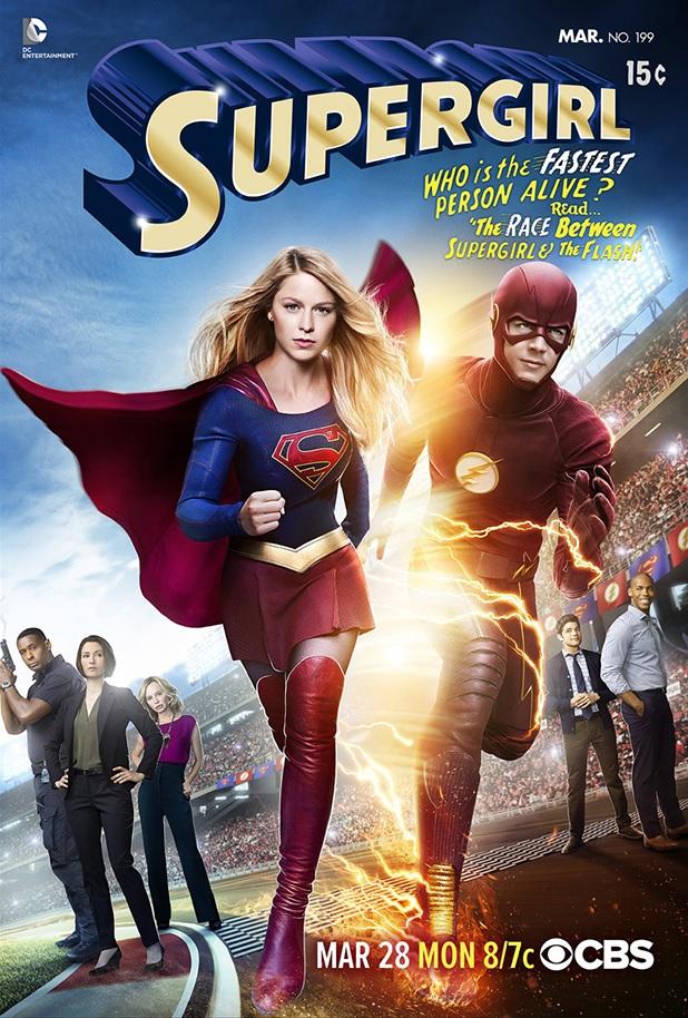 Crossover-poster voor Supergirl en The Flash