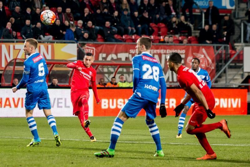 Hakim Ziyech zette Twente met de gelijkmaker op het goede spoor (Pro Shots/Erwin Spek)