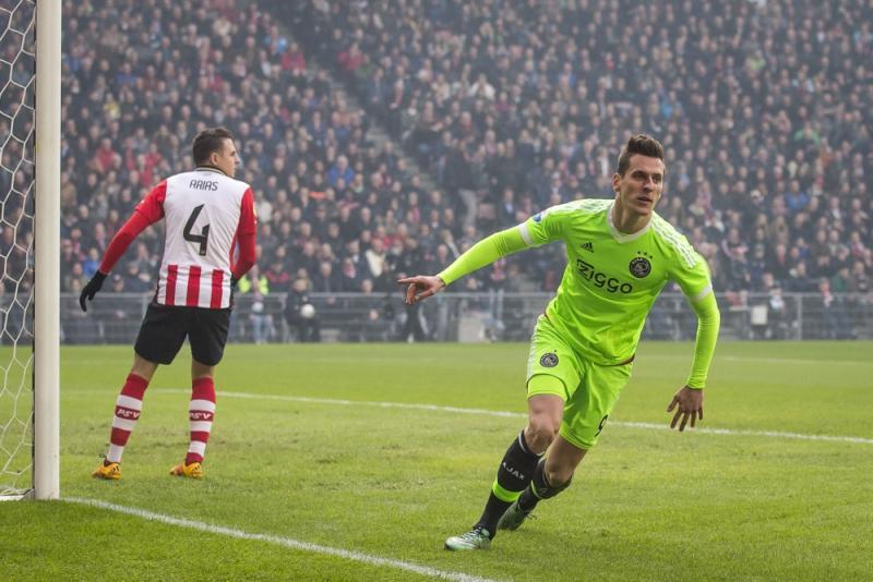 Milik zette Ajax al snel op voorsprong (Pro Shots/Joep Leenen)