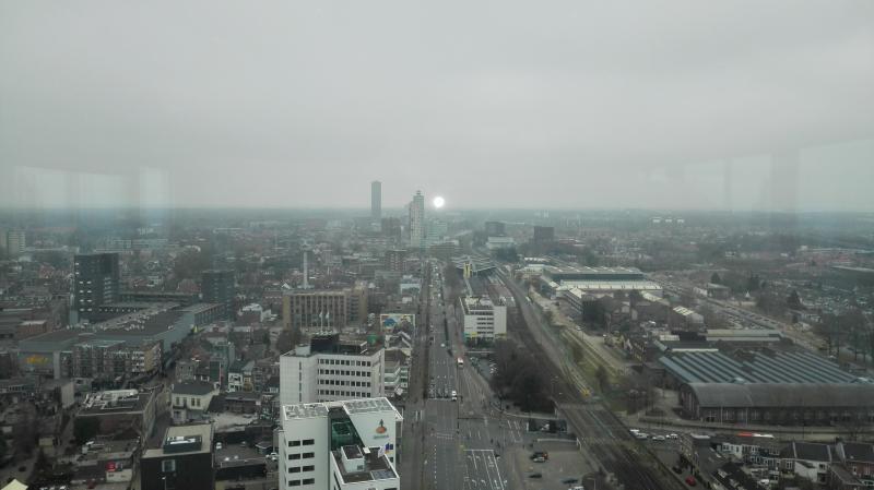 Uitzicht vanaf Interpolis op station Tilburg.  (Foto: Blind_Guardian)