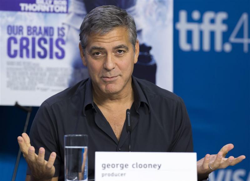 Clooney vindt Trump 'een kleuter'