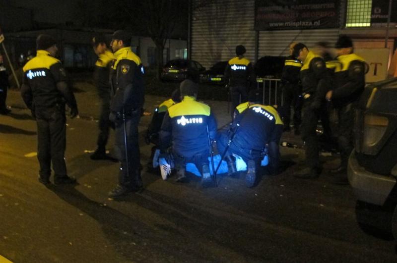 Massale vechtpartij in Rotterdam