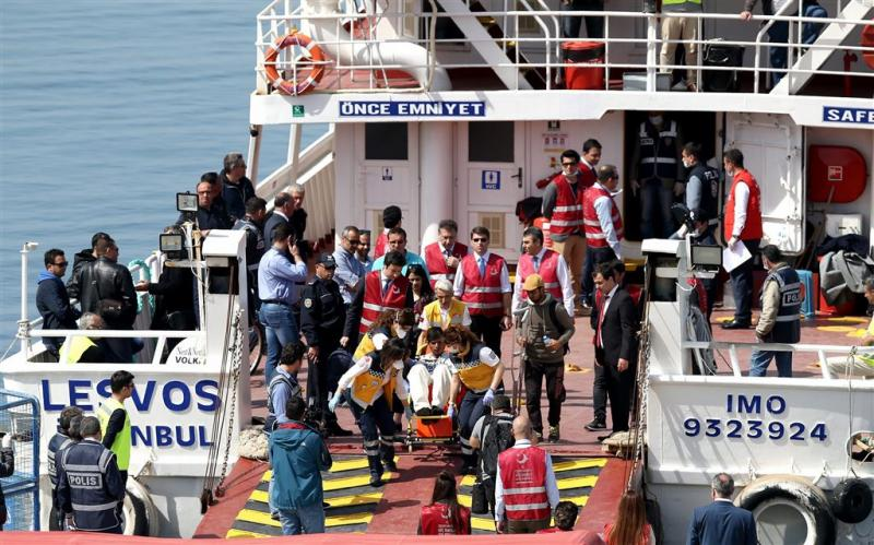 Weer groep migranten terug naar Turkije