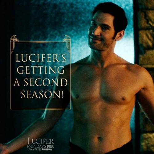 'Lucifer is getting a second season'