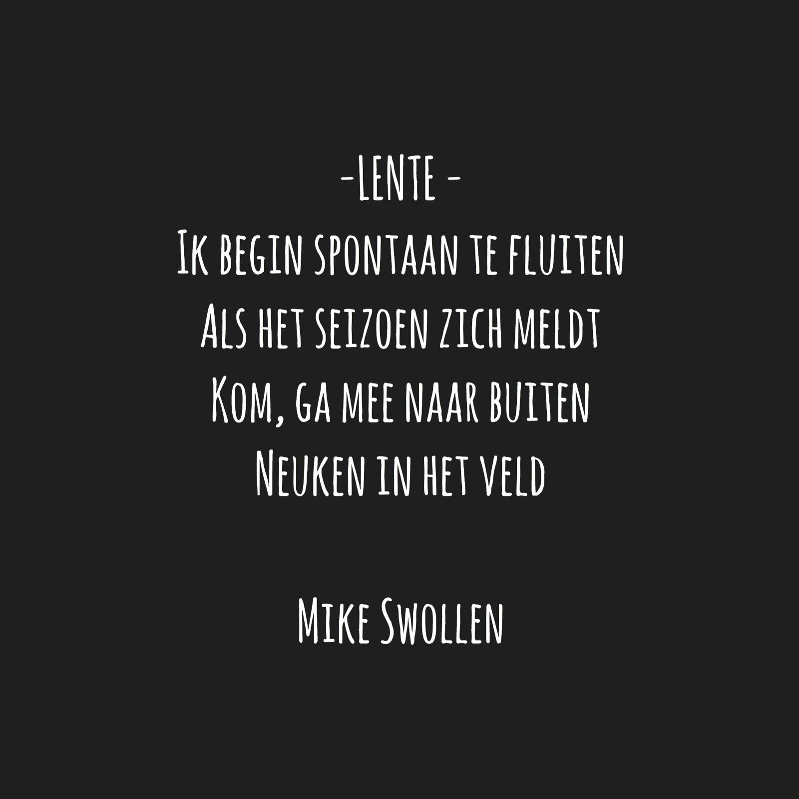 Swollinski gedicht Lente
