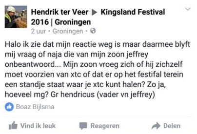 Vraagje voor Kingsland Festival...