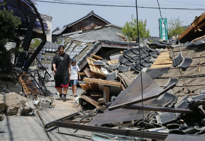 Opnieuw zware aardbeving bij Kumamoto