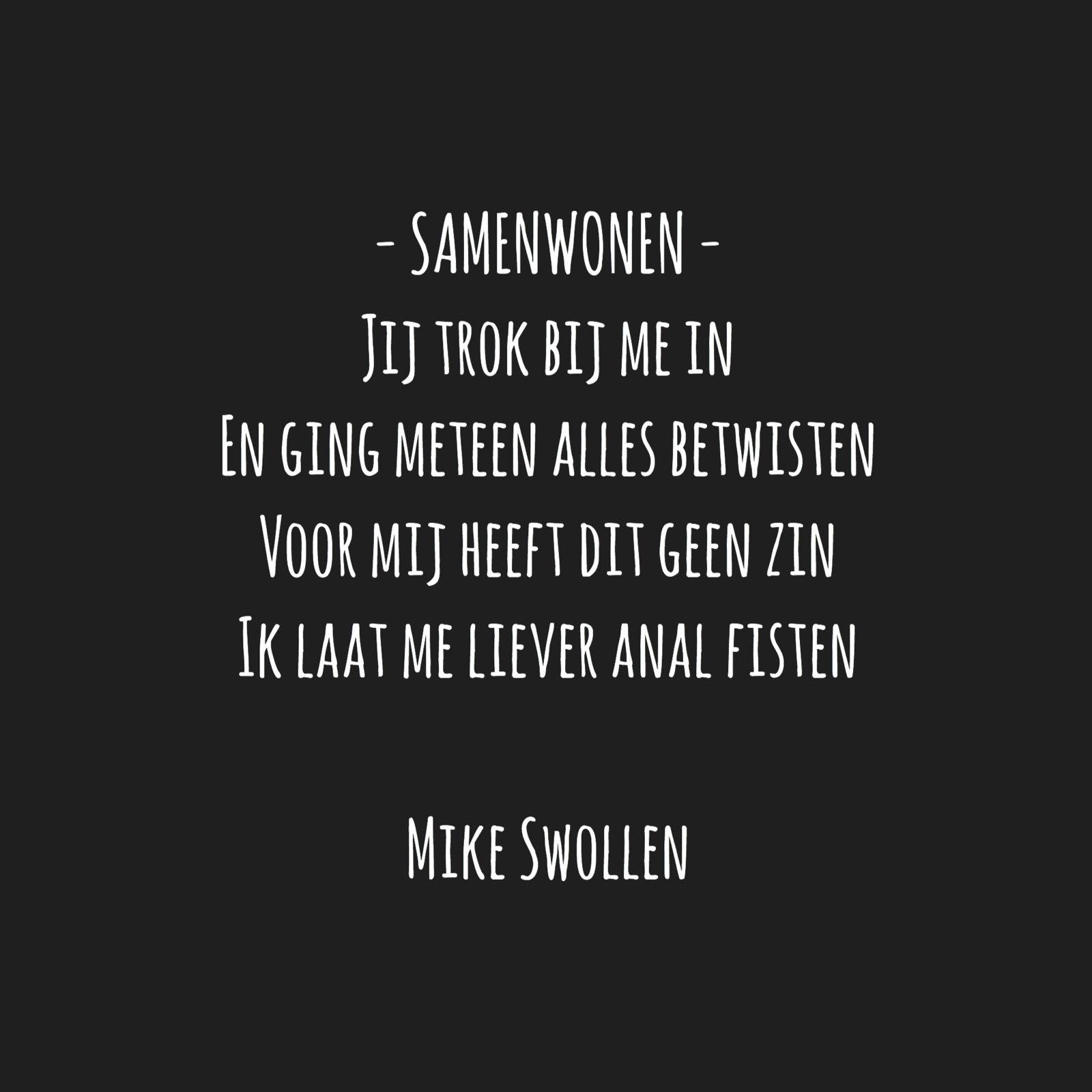 Swollinski gedicht Samenwonen