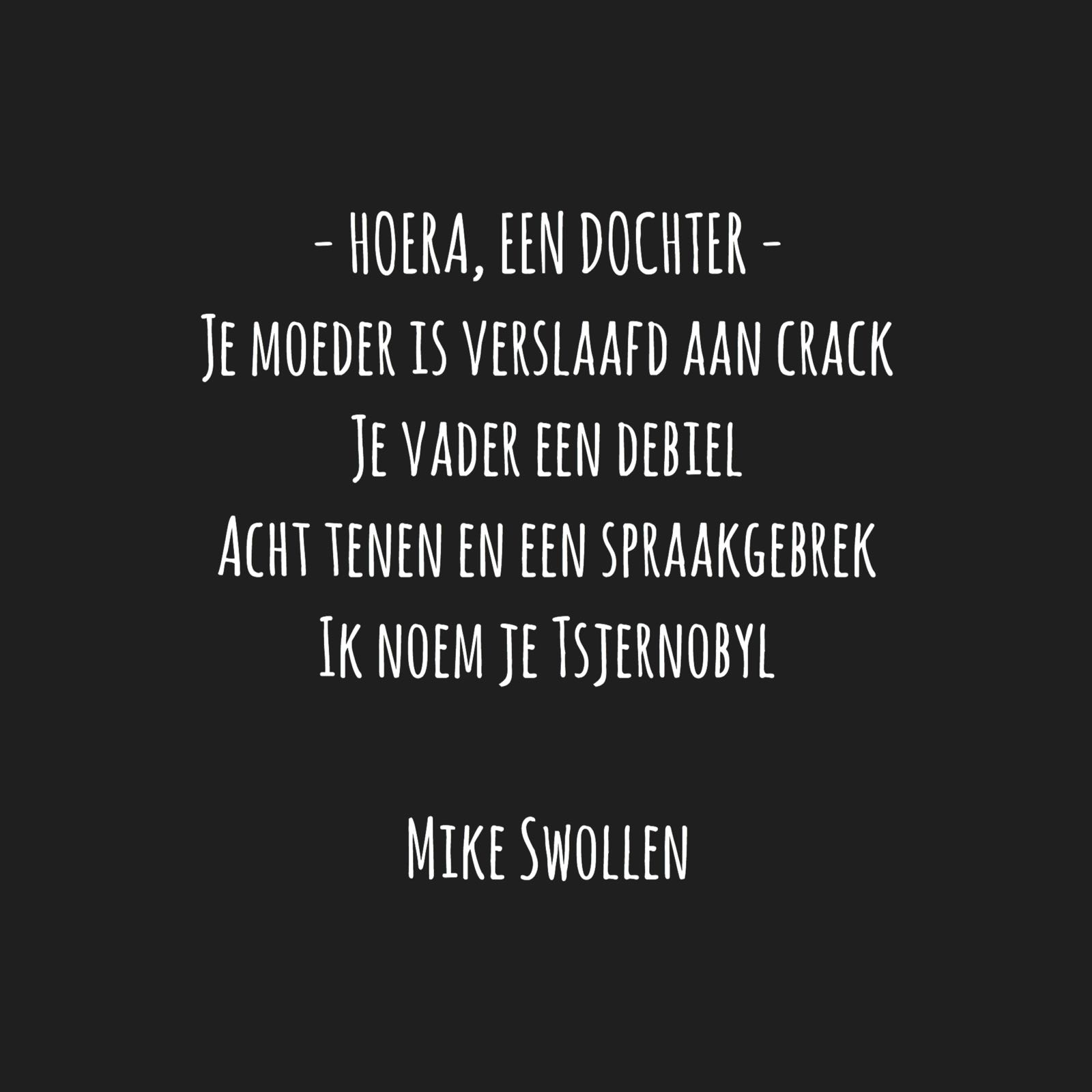 Swollinski gedicht Hoera, een dochter