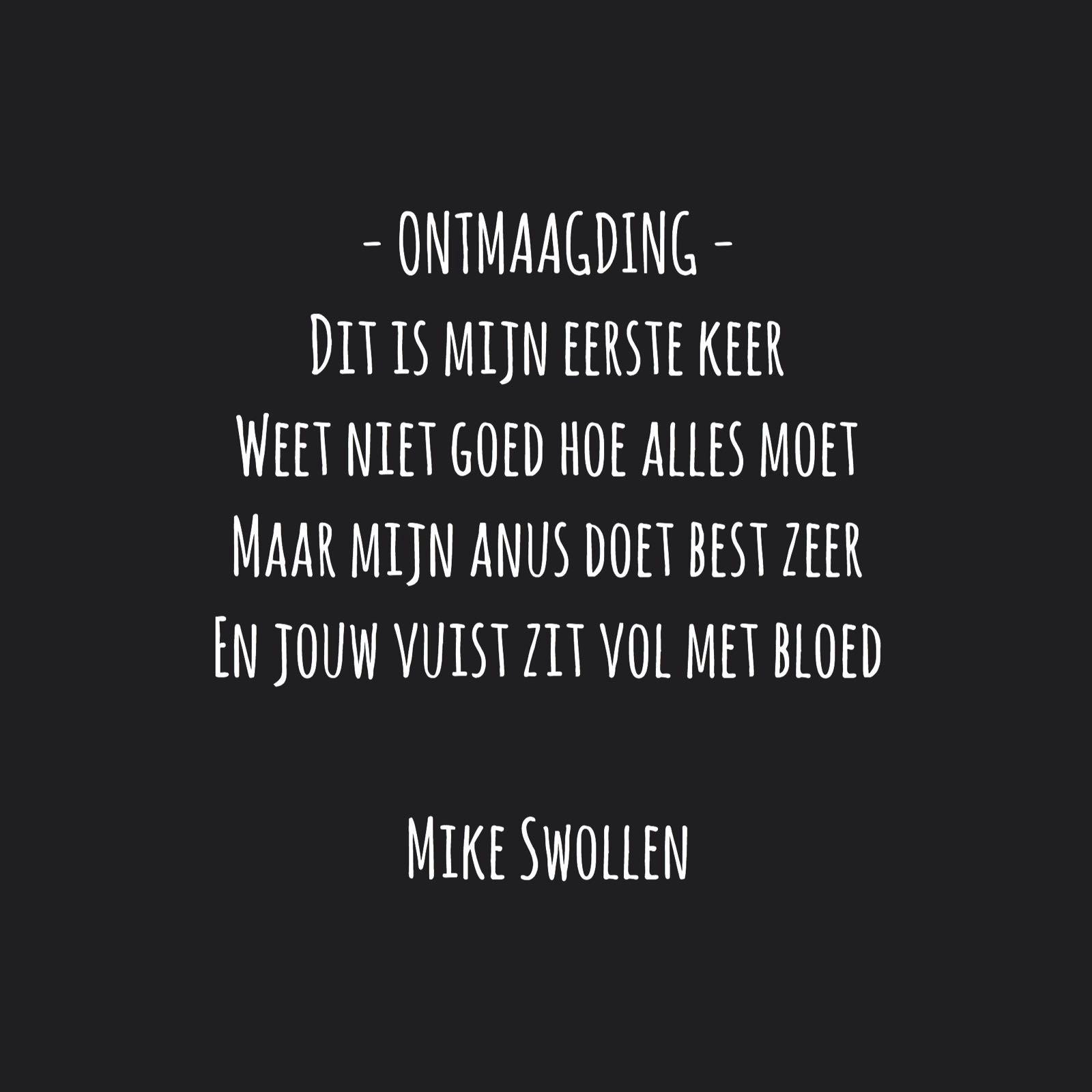 Swollinski gedicht Ontmaagding