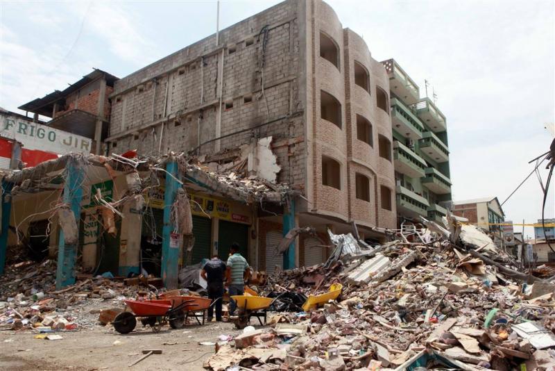 Opnieuw aardbeving in Ecuador