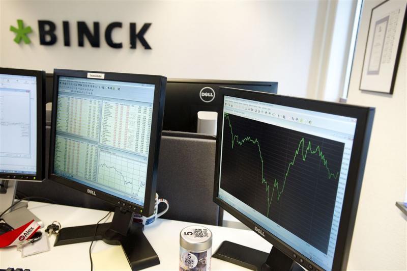 Aantal transacties Binck loopt flink terug