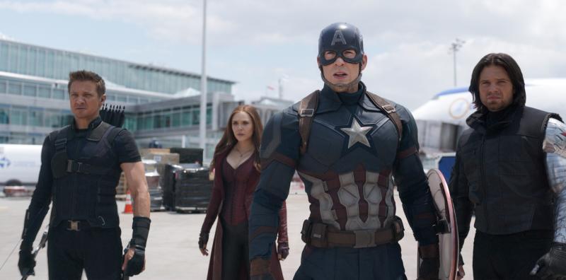 Captain America: Civil War: Hawkeye, Scarlet Witch, Captain America en Winter Soldier