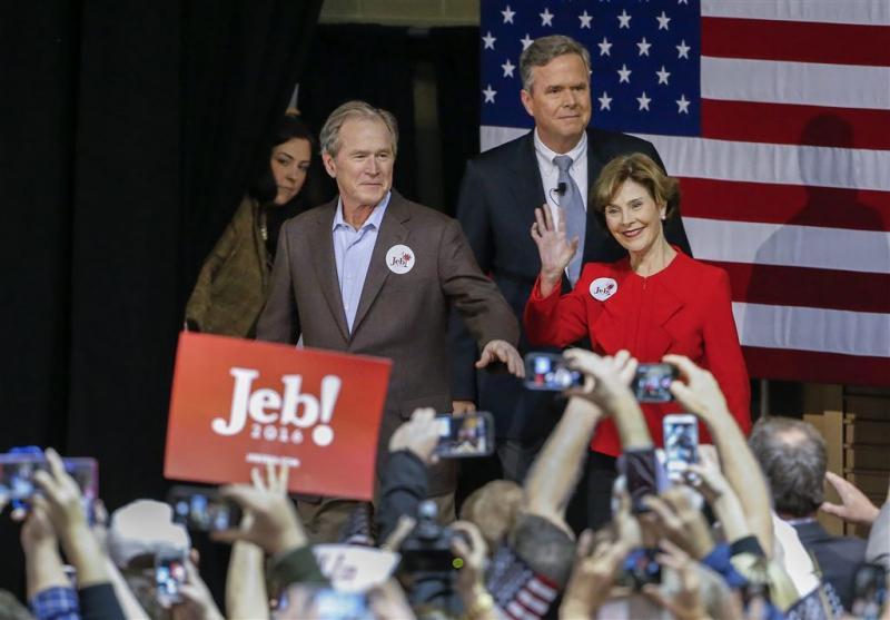 'Bushes spreken geen steun uit voor Trump'