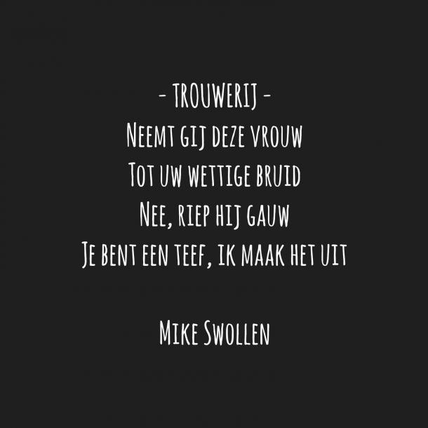 Swollinski gedicht trouwerij