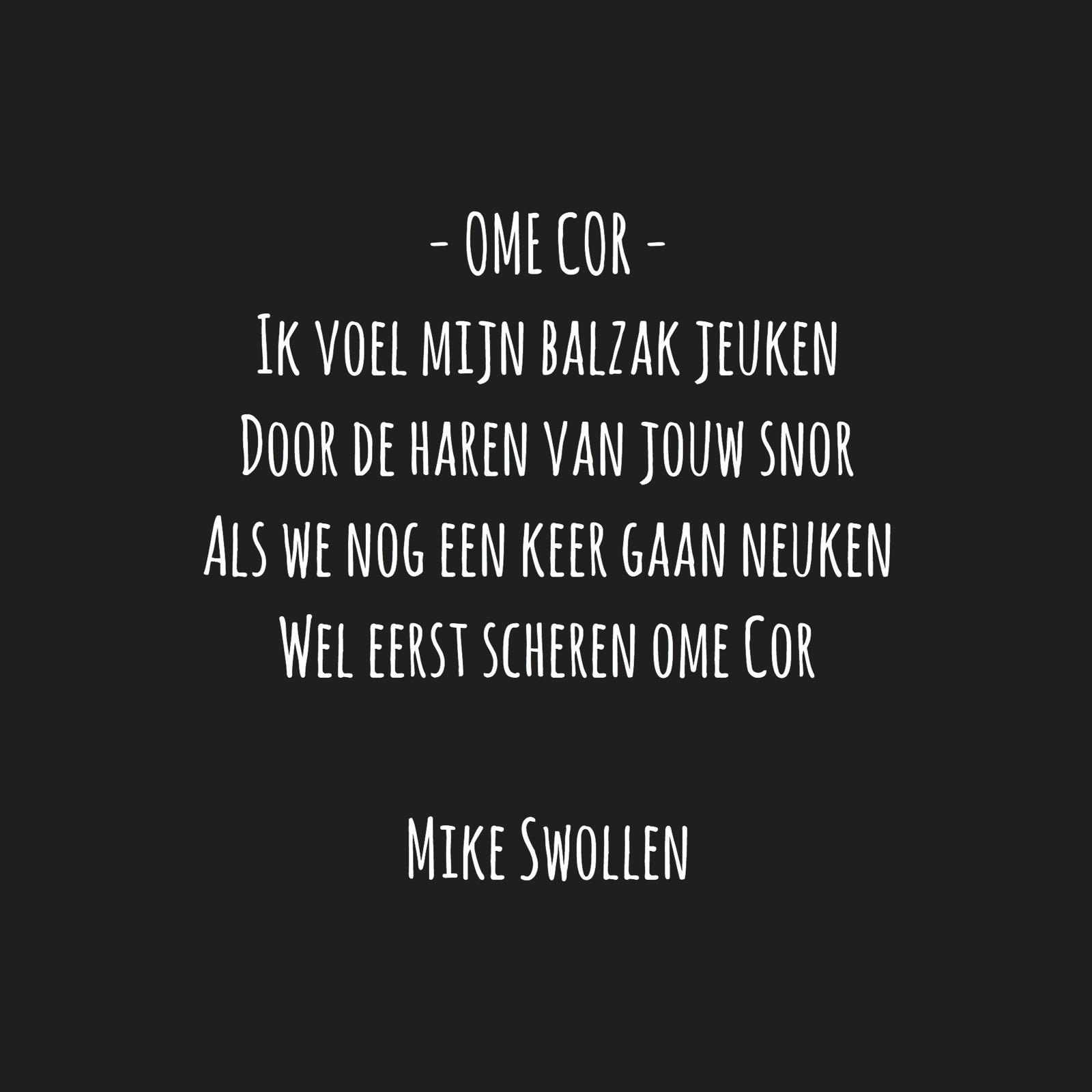 Swollinski gedicht Ome Cor