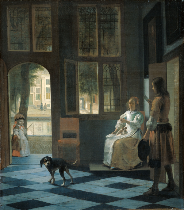 Schilderij de Hooch
