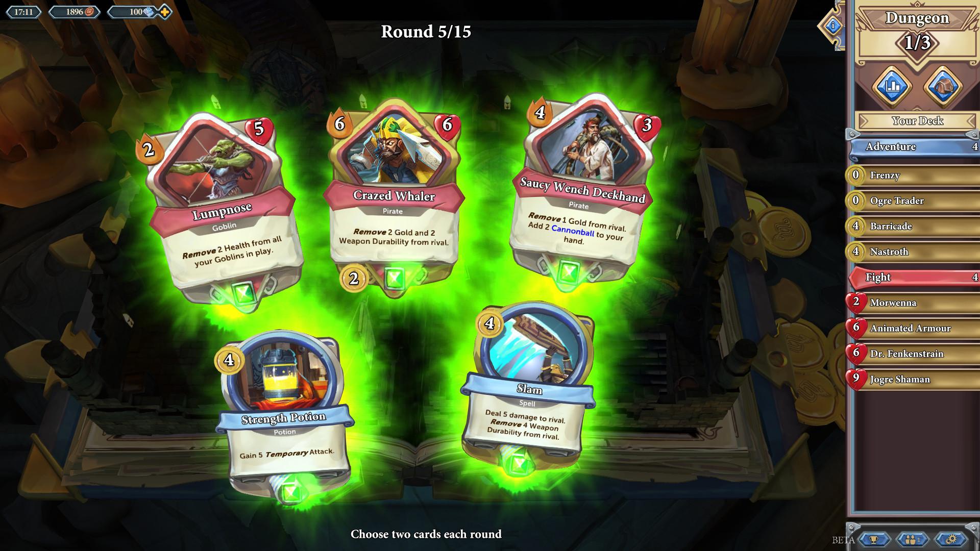 Chronicle - Kies je kaarten voor Dungeoneering