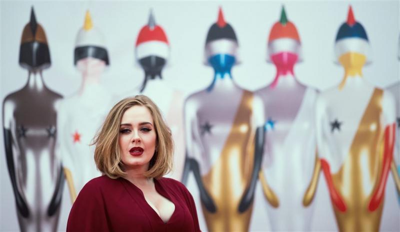 Adele gespot in Amsterdam