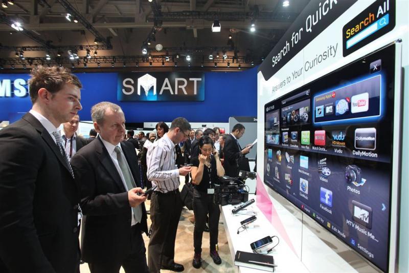 Smart-tv's Samsung maken reclame