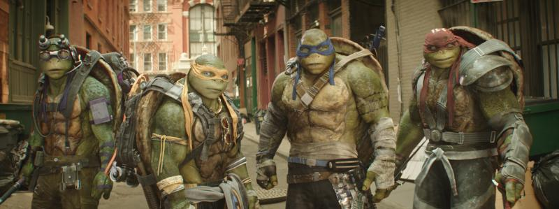 Ninja Turtles: Out of the Shadows: de turtles
