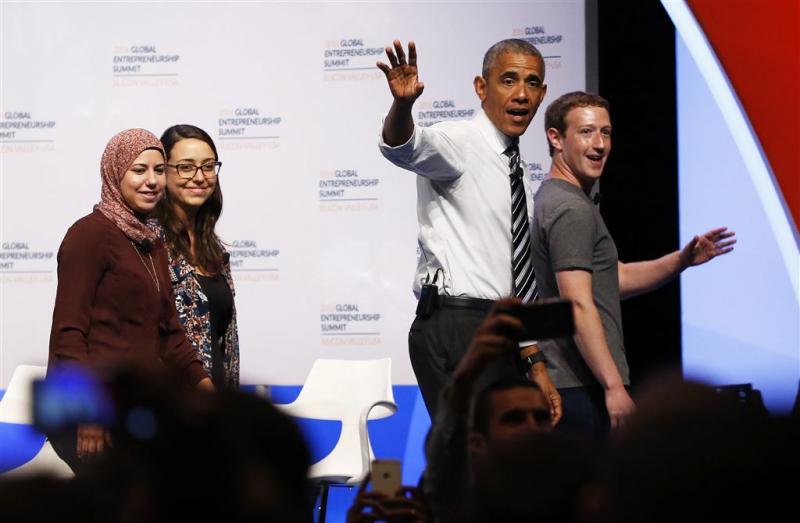 Obama en Zuckerberg steunen ondernemers