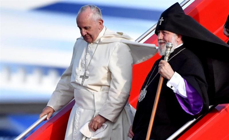 Paus vraagt om verzoening Armenië en Turkije