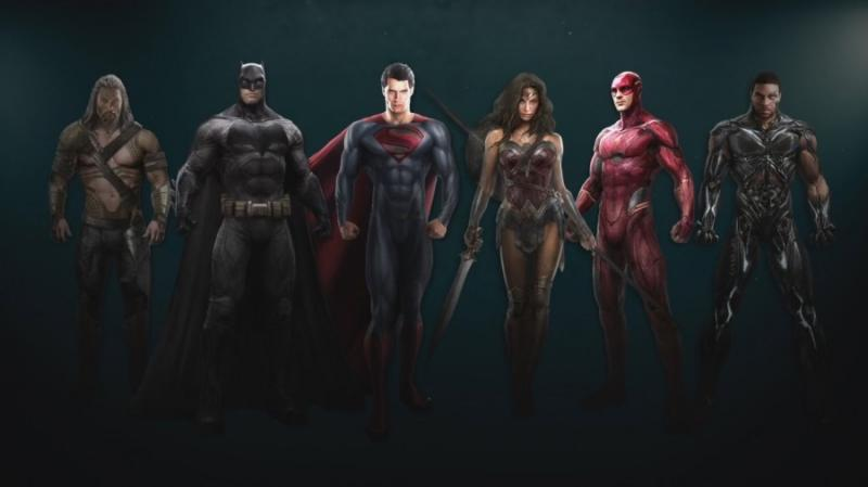 Justice League: concept art lineup