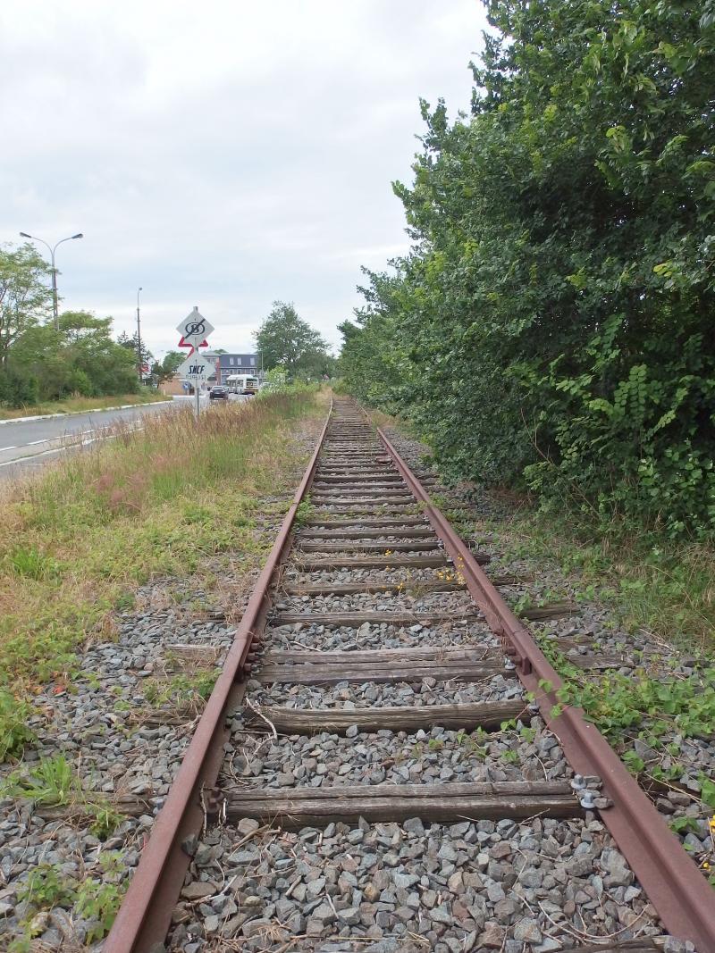 De spoorlijn De Panne (B) - Duinkerke (F) (Foto: blind_guardian)