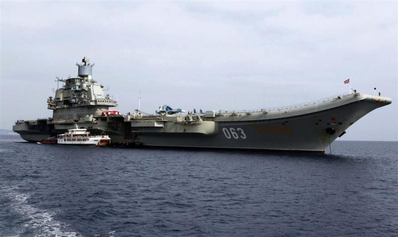 Rusland zet vliegdekschip in voor Syrië
