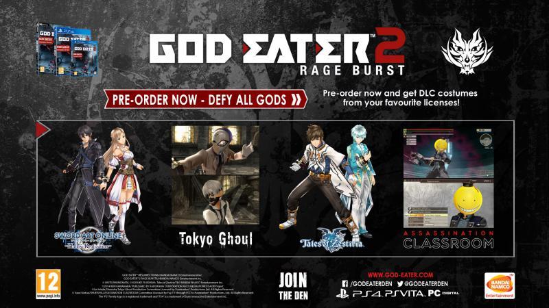God Eater 2: Rage Burst preorder bonussen (Foto: Bandai Namco)