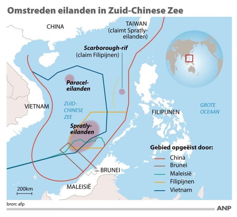 Arbitragehof verwerpt aanspraken China